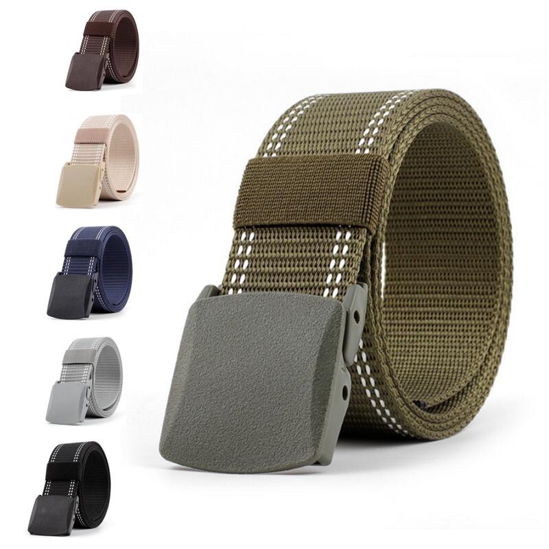 New Style Children's Canvas Belts Plastic Buckle Nylon Boys Girls Children Casual Tactical Belt Kids Waist Belt Students Belt
