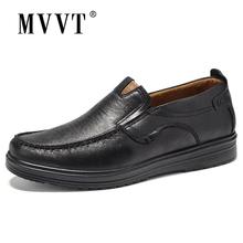 Skórzane buty męskie z mikrofibry duże rozmiary wygodne wkładane mokasyny skórzane obuwie wygodne mieszkania buty męskie mokasyny tanie tanio MVVT Skóra Split RUBBER M6268 Lace-up Pasuje prawda na wymiar weź swój normalny rozmiar Stałe Dla dorosłych Oddychające