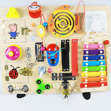 Edubusyiu Montessori cross screwdriver board for kids Montessori toys Education Toys Wooden Toys activity toys Practical life