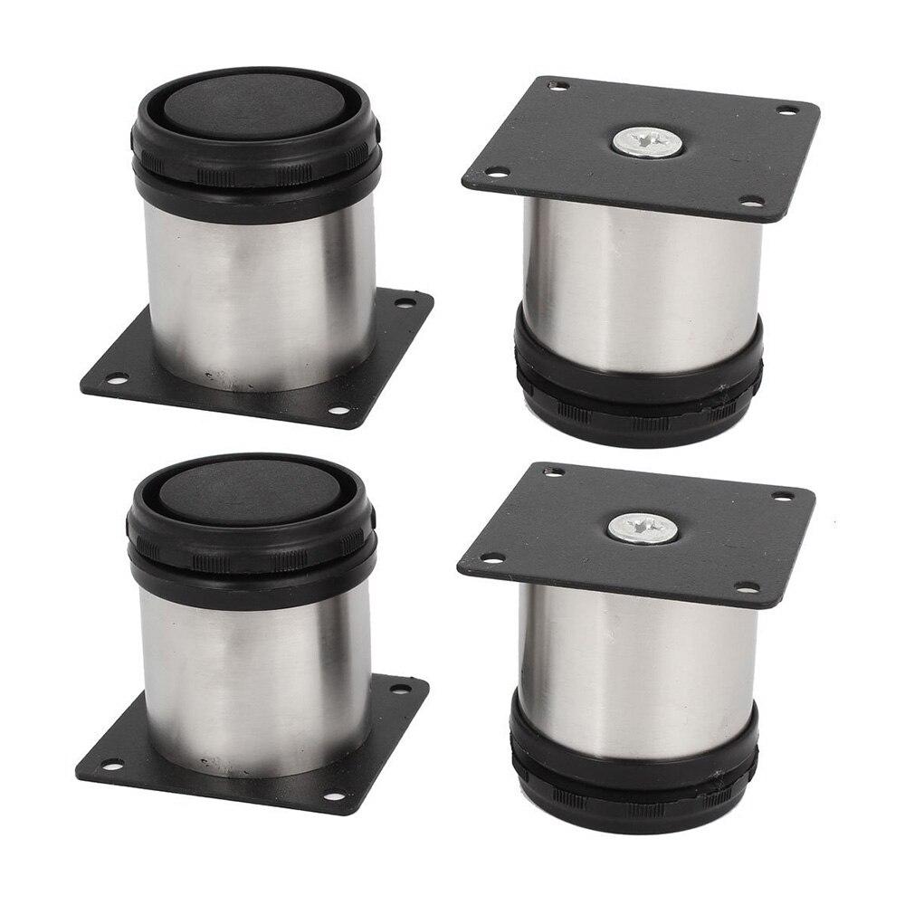 4pcs Stainless Steel Cabinet Leg Adjustable Furniture Feet Shelves Sofa Wardrobe Bed Protective Legs For DIY Hotel Household