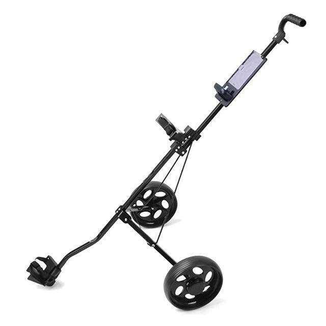 Golf Pull Cart Adjustable Golf Trolley Cart 2 Wheels Push Pull Golf Cart Aluminium Alloy Foldable Trolley With Brake 6