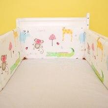 Parachoques para cama de bebé de 180x30cm, cuna de algodón para niños recién nacidos, ropa de cama para guardería, parachoques de dibujos animados para niños y niñas