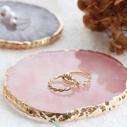 Resin Jewelry Display Plate Necklace Ring Earrings Display Painted palette Tray Jewelry Holder Organizer Decoration jewelry