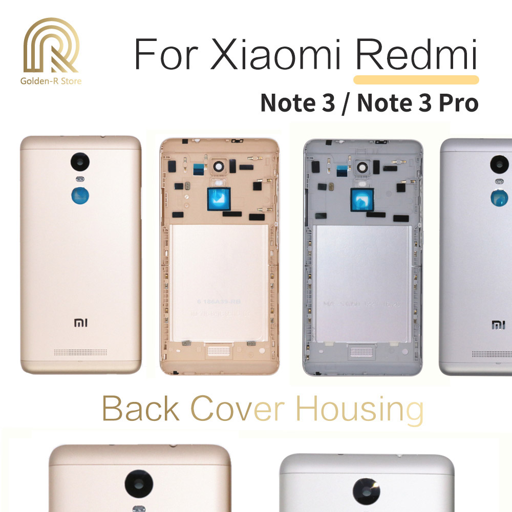 Original For Xiaomi Redmi Note 3 Pro Note 3 Back Battery Cover Rear Door Housing With Power Volume Buttons Replacement