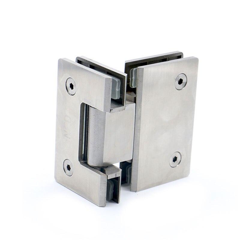Charnière de 180 degrés ouverte charnières de porte de douche en verre de bâti de mur d'acier inoxydable de 304 pour le matériel de meubles de salle de bains à la maison