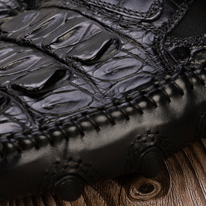 Image 5 - Zapatos de cocodrilo para hombre, vestido de piel auténtica, marca de alta calidad, diseño Original, fiesta, boda, zapatos de ocio Casual