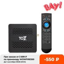 TOX1 Android 9 0 Dispositivo de TV inteligente 4GB 32GB Amlogic S905X3 5G Dual Wifi 1000M BT 4,2 4K Media Player Dolby Atmos de Audio TVBox