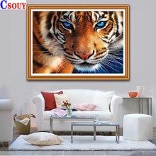 Животные 5d diy алмазная живопись тигр Алмазная мозаика для