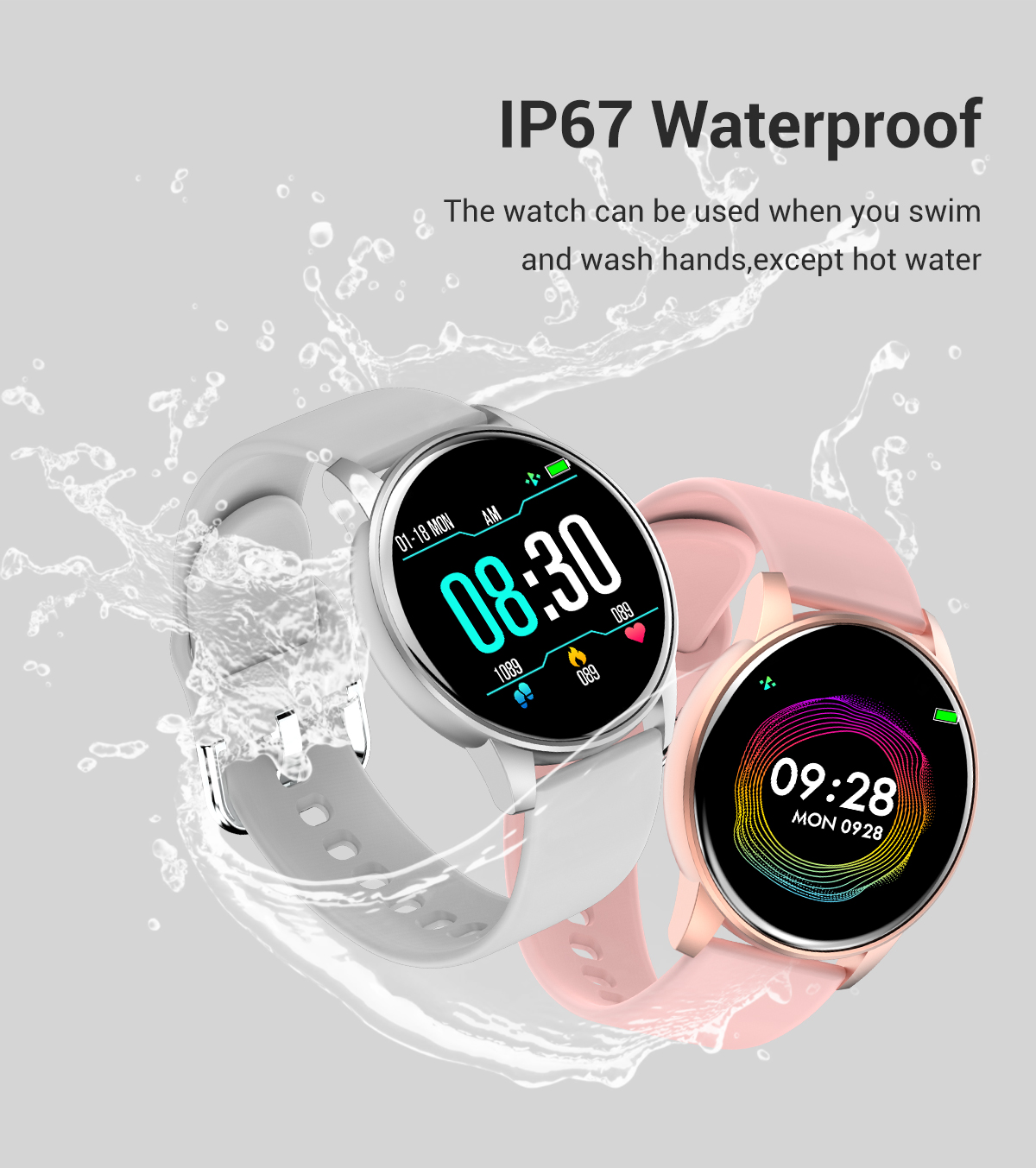 LEMFO Smart Watch Women Heart rate Monitor Weather Forecast Multi-sport Mode IP68 Waterproof Smartwatch Men For Android IOS
