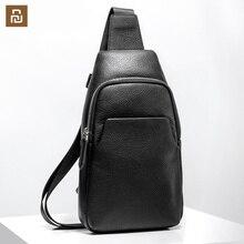 شاومي الصدر حقيبة الظهر Mi حقيبة جلدية الموضة المحمولة عادية 190*80*320 مللي متر الرجال الجلد المدبوغ السفر حقائب الكتف للرجال