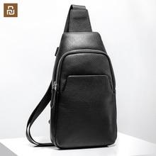 Xiaomi peito mochila mi bolsa de couro moda portátil casual 190*80*320mm masculino camurça viagem sacos de ombro para homem
