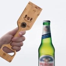 Многофункциональная открывалка для бутылок барбекю гриль деревянная лопатка инструмент для чистки дуба скребок чистое и гигиеническое оборудование для барбекю