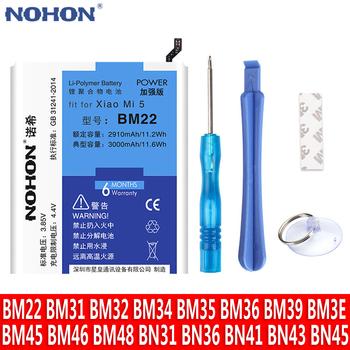 NOHON BM22 BM35 BM36 BM3E BM45 BM46 BN43 BN41 BN40 baterii dla Xiao mi mi 5 3 4 4C 5S 5X 6 6X 8 czerwony mi uwaga 2 3 Pro 4 4X 5 tanie i dobre opinie 3501 mAh-5000 mAh Kompatybilny MSDS ROHS WEEE XIAOMI For Xiaomi Mi 3 4 5 4C 5S 5X 6 6X 8 Redmi Note 2 3 Pro 4 4X 5 Battery