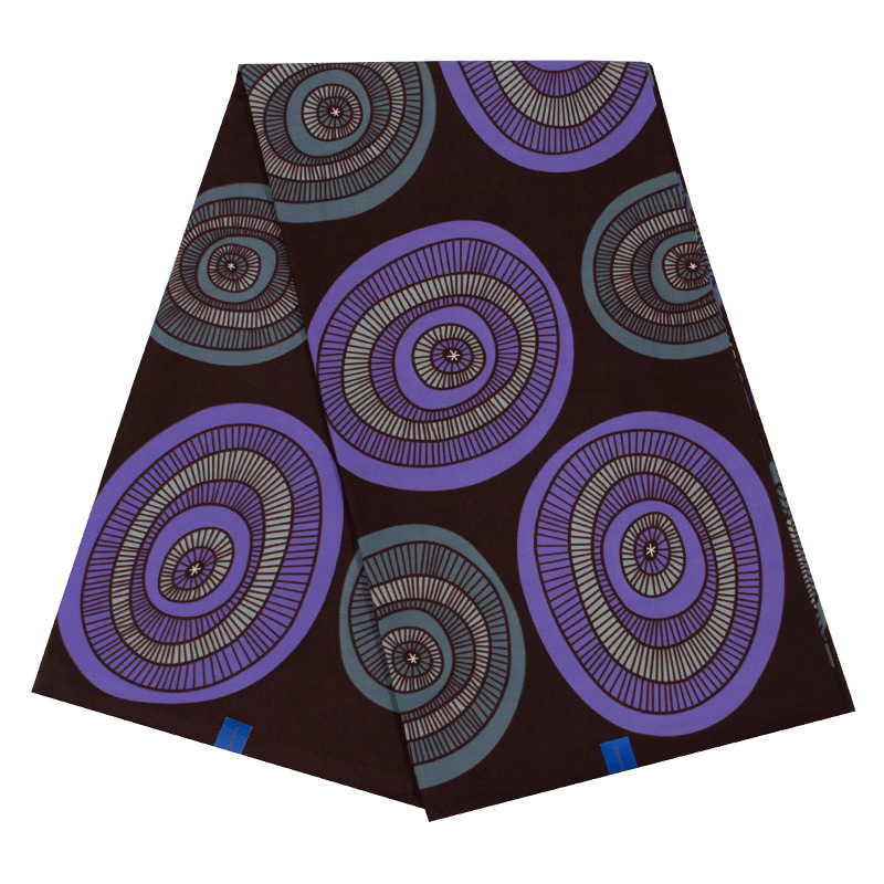 New African Fabric Pure Cotton Purple And Gray Print Black Fabric 2019 Dutch Wax High Quality Wax