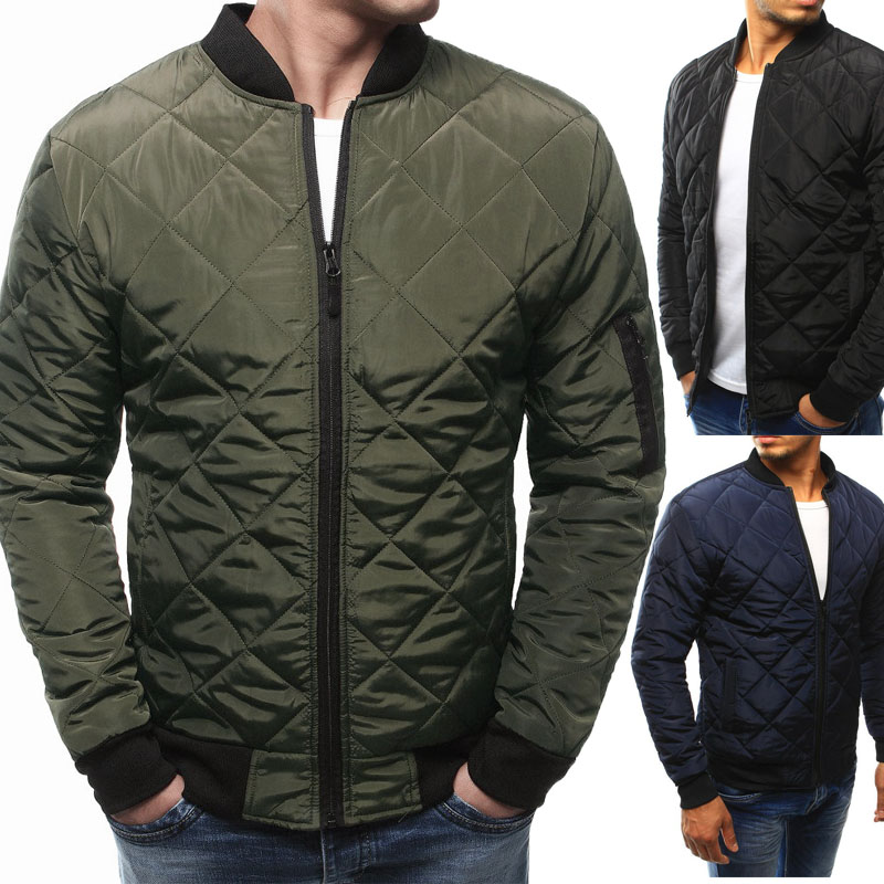 Men's Stand Collar Casual  Jacket  Men Cotton-padded Jacket
