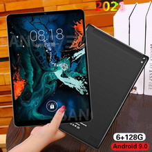 2021 New 10.1 inch Android 9.0 Tablet Octa Core 6G RAM 128G Tablets ROM Dual SIM Card 4G Tablet PC with Free Gifts