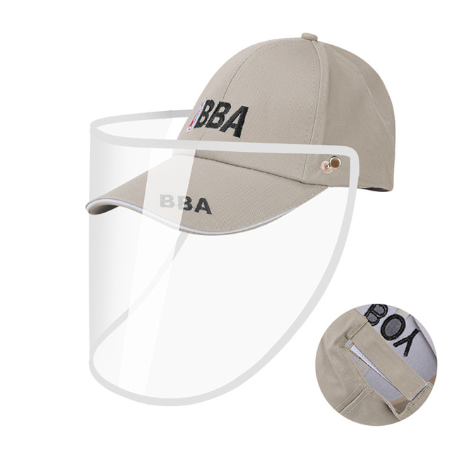 Eyes Protection Hat with Anti-saliva Face Cover Mask Baseball Cap Dustproof Protective Cap Adjustable Face Shield Safe Isolation 3