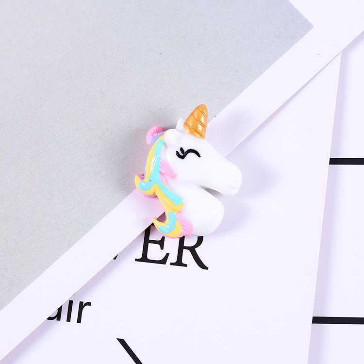 5pcs Resin Unicorn Slime Supplies DIY Crystal Slime Filler Clear Clay Supply Slime Kit Accessories Phone Case Decoration