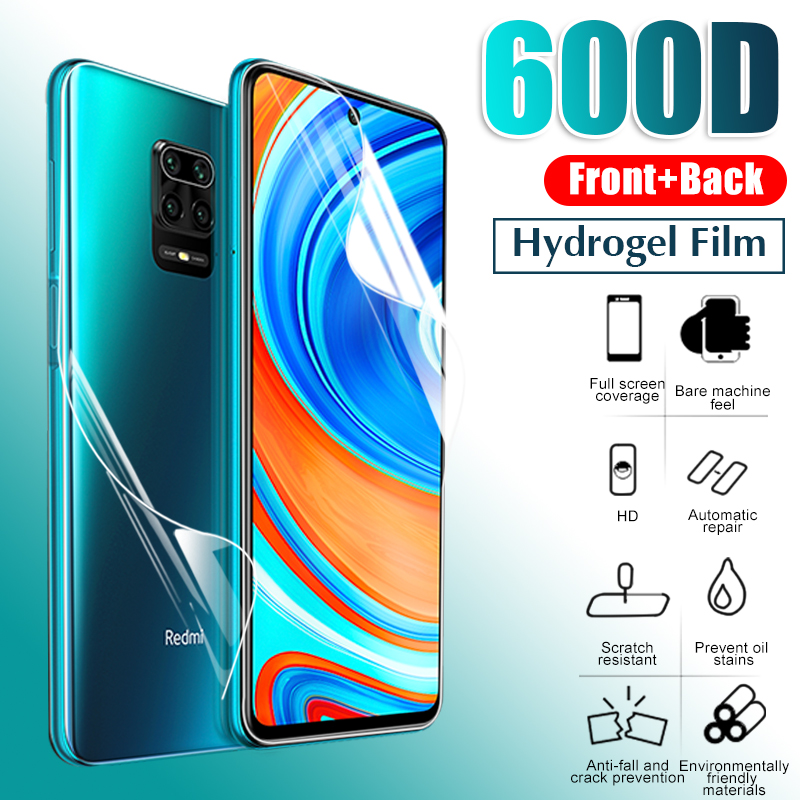 Front+Back Protector Hydrogel Film Full Cover For Xiaomi Redmi Note 9 8 7 Pro Max 8T 9S 7A 8A K30 Pro Screen Protector Not Glass(China)