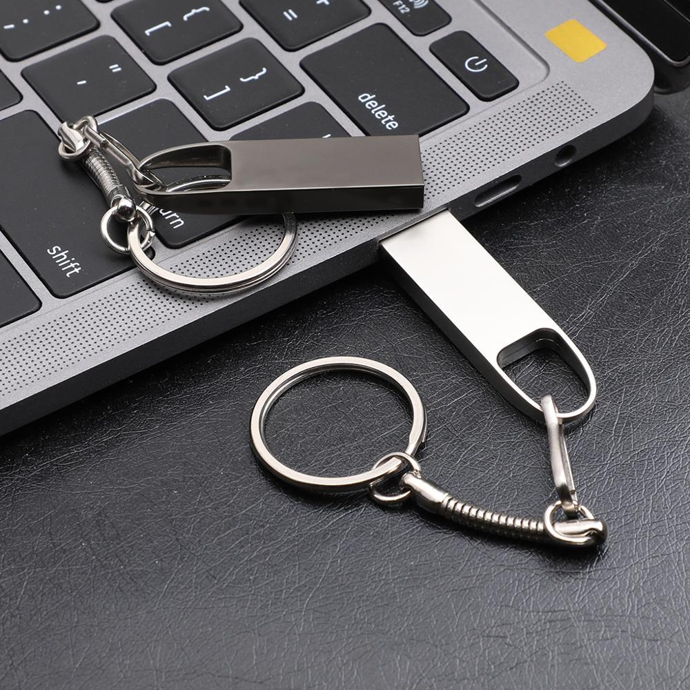 Metal Pen Drive 2.0 PenDrive 32GB 16GB 8GB 4GB High Speed USB Flash Drive 128GB Key USB Stick 64gb Flash 512GUsb Flash Disk