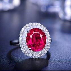 YaYI-anneau de bijoux, bague de fiançailles, couleur argent, Zircon rouge blanc et blanc, coupe princesse, anneau de mariage, mode