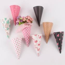 Новые продукты бумажный стаканчик льда букет в виде мороженого бумаги мини цветок упаковка веб-цветок упаковка материал цветочный магазин