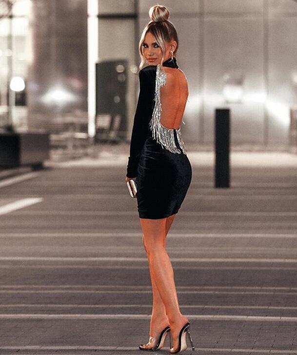 Backless Winter Dress