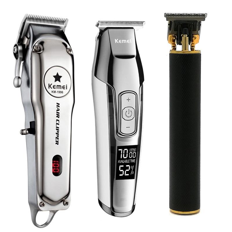 Kemei All Metal Professional Electric Hair Clipper Rechargeable Hair Trimmer Haircut Shaving Machine KM-5027 KM-1996 KM-1971B