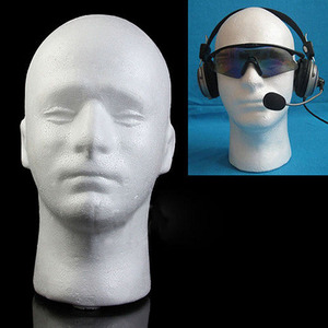 Faroot New Men Styrofoam white Styrofoam foam head model Stand Wig hair hat headset mannequin screen shelf(China)