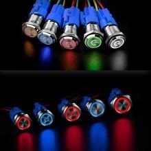 Popular 16MM 19MM Metal Push Button Switch Waterproof Power Button LED Light Momentary Latching Car 6V 12V 24V 220V