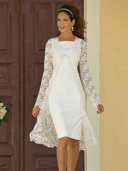 Ivory Mother Of The Bride Dresses 2019  Lace Jacket Knee Short Mothers Dresses For Wedding Vestidos De Madrinha