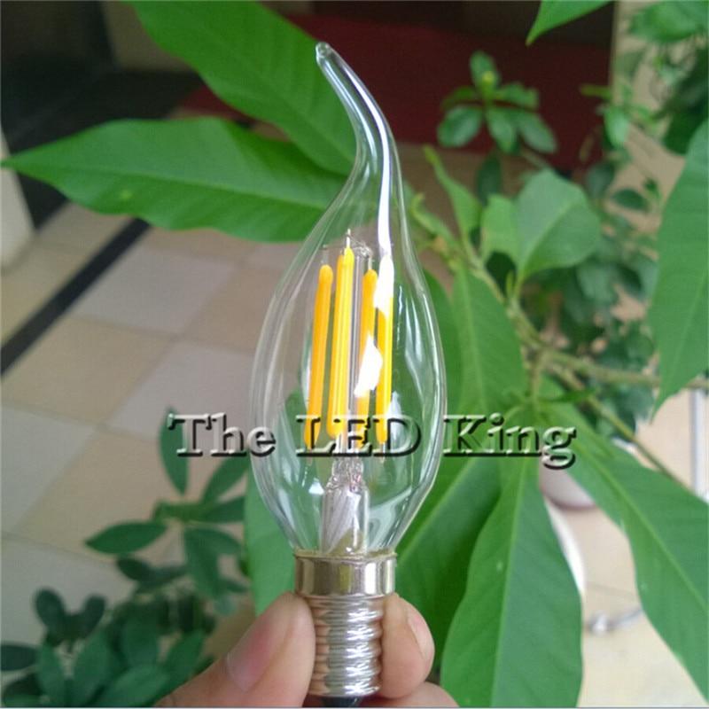 Светодиодная лампа Эдисона E14, 220 В, C35, C35L, 12/6/18 Вт, 10 шт.