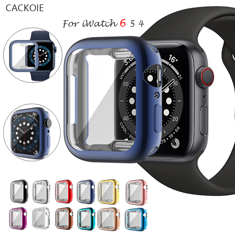 Watch Cover case For Apple Watch series 6 5 4 3 2 1 case 42mm 38m 40mm 44mm Slim Soft TPU case Screen Protector for iWatch 6/5/4