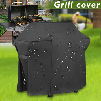 BBQ Grill Cover Universal Gas Barbeque Grill Protectors Waterproof Heavy Duty 600D PVC Garden Furniture Cover PI669