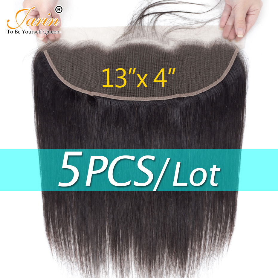 Jarin Peruvian Straight Hair 13 4 Lace Frontal Natural Color Free Middle Three Part Medium Brown