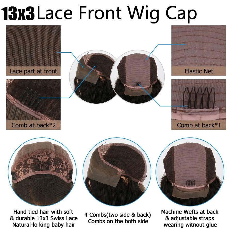 13*6 передние волосы на кружеве парики для женщин с детскими волосами Выделите коричневый цвет парики с волнистыми волосами 100% человеческие волосы бразильские парики Remy - 4