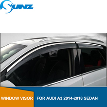 Side window deflectors rain guards for Audi A3 2014-2018 wind visor 2014 2015 2016 2017 2018 SEDAN accessories  SUNZ