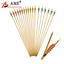 6/12pcs 3Archery Striped Turkey Feather Spine 900 Archery Carbon Arrows  Outdoor Sports Practice Shooting Hunting Accessories