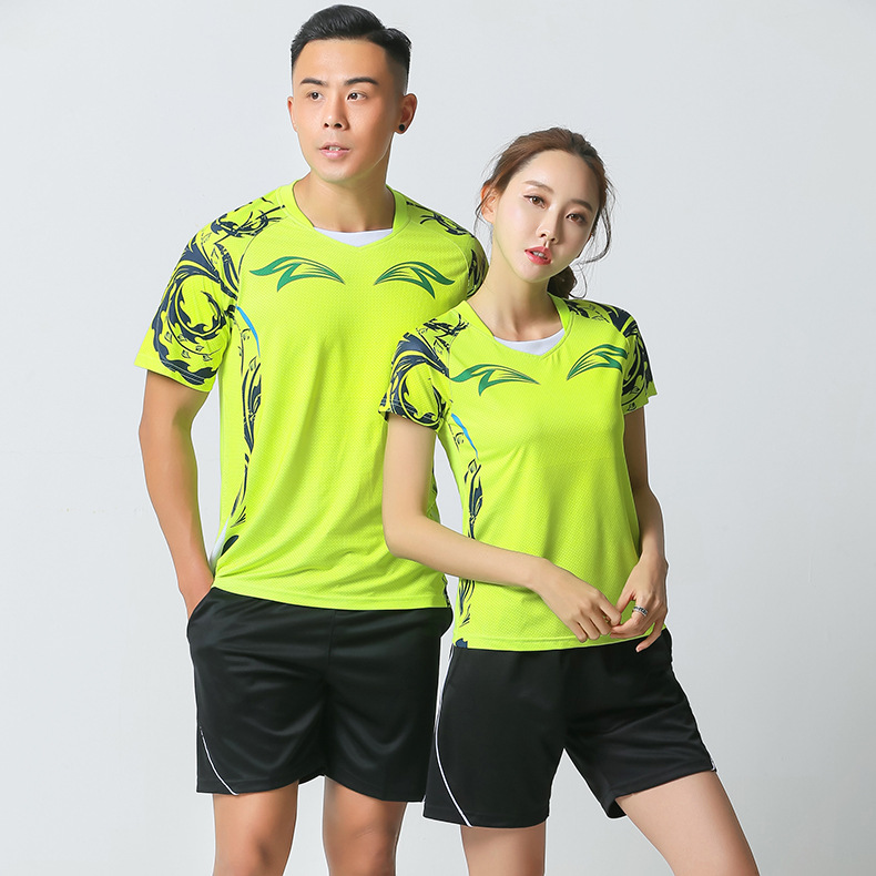 2019 Autumn New Style Short Sleeve Table Tennis Wear Badminton Clothing Set Men And Women Couples Sports Jersey Training Shorts