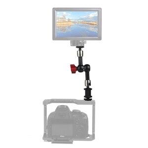 """Image 4 - 7 """"11"""" regulowane magiczne ramię do montażu monitora LED światło błyskające wideo aparat DSLR magiczne ramię przegubowe Super zacisk"""