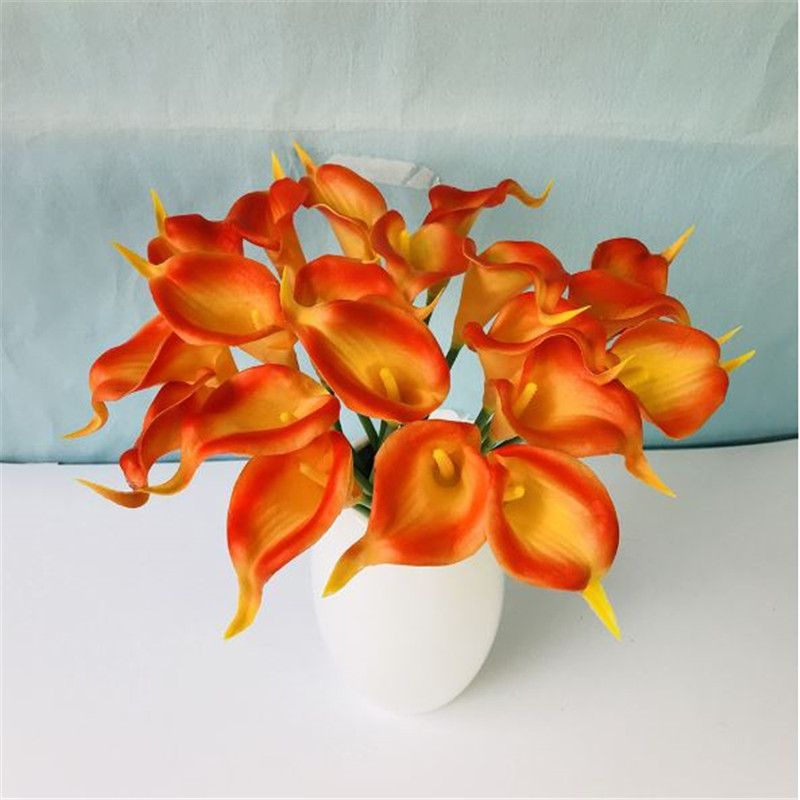 1PC PU Mini Tulips Artificial Flowers For Home And Wedding Decoration Flowers 37
