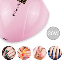 36W USB Nail UV Gel Lamp 2 Colors LCD 30s/60s/99s Three-stop Timing 12 LED Infrared Induction Curing Tools