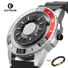 EUTOUR New Magnetic Watch Men Luxury Silicone Watch Strap Designer Magnet Watches Men Casual Quartz Mens Wristwatch Dropshipping