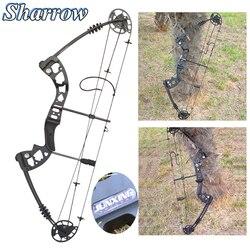 Conjunto de arco de polea compuesto con arco 30-55 lbs ajustable arco de caza deportes al aire libre caza accesorios de tiro equipo de Camping