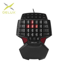 цена на Delux T9 Wired Single-handed Gaming Keyboard Ergonomic Design Single handed keyboard Gamepad  gaming keypad