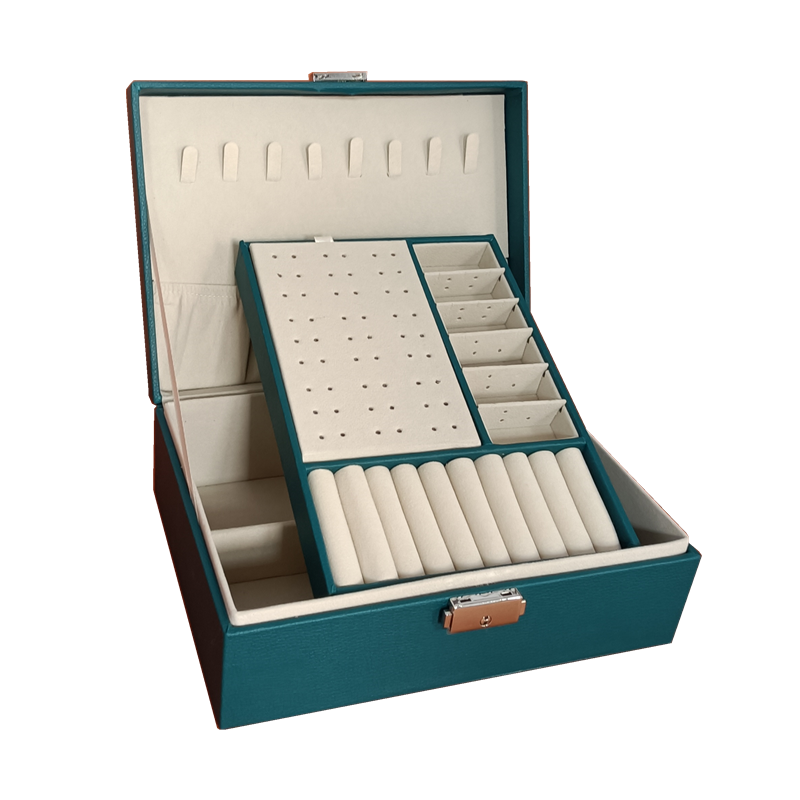 PU Leather Jewelry Storage Display Portable European-Style Multi-Function Packaging Box  With Drawer Winter Gift