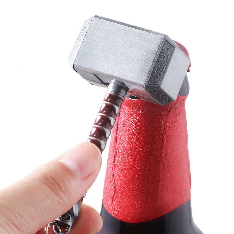 The Avengers Thor Hammer Keychain Apri di Bottiglia Loki Scettro Mjolnir Stormbreaker Ascia Portachiavi Per Le Donne Degli Uomini Dei Monili Anello Chiave