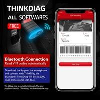 ThinkDiag Bluetooth diagnostic scanner full systems diagnostic tool ECU Coding active test obd2 scanner pk x431 easydiag 3.0
