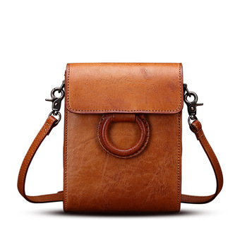 New Mini Vintage Handmade Ring Messenger Bag Large Capacity Shoulder Phone Bag