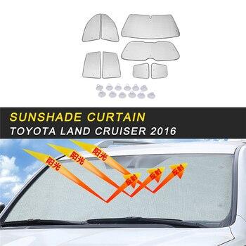 Car Sun Shade UV Protection Curtain Sunshade Window Mesh Cover Visor Summer Film For Toyota Land Cruiser 200 2016-2018